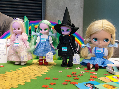 The girls on my table dressed all Wizard of Oz!